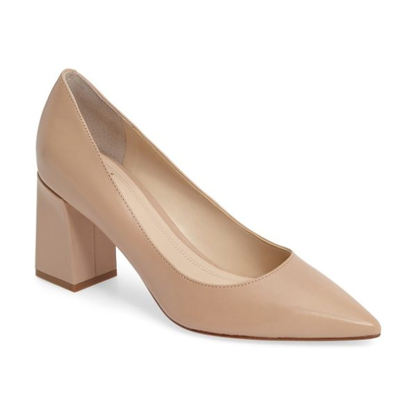 MARC FISHER LTD 'zala' pump in lite latte leather - Clean lines highlight the timeless appeal of a classic...