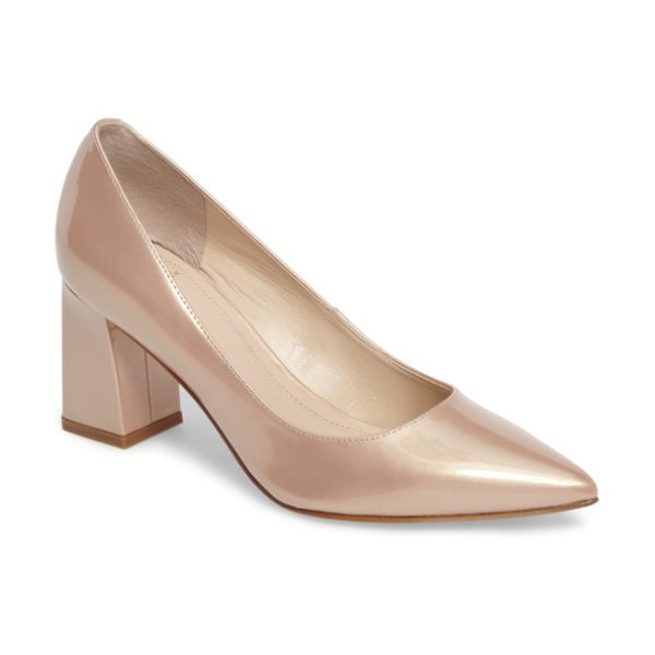 MARC FISHER LTD 'zala' pump in light natural patent leather - Clean lines highlight the timeless appeal of a classic...