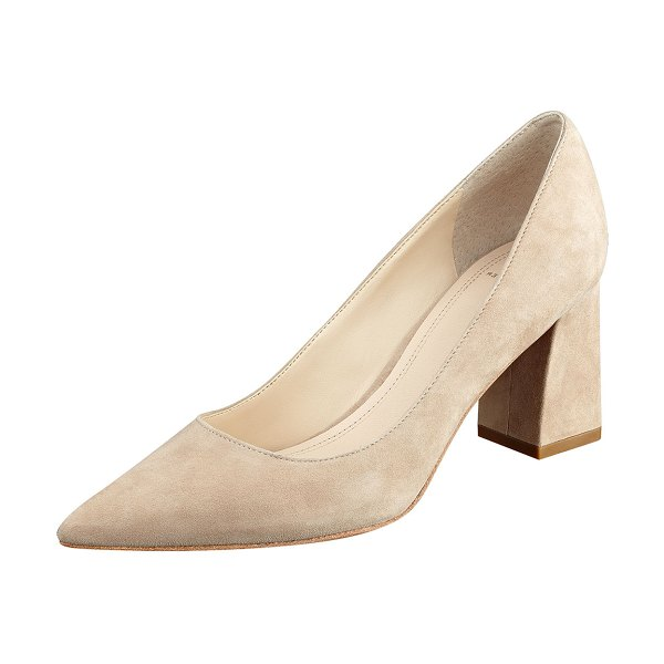MARC FISHER LTD Zala Smooth Leather Point-Toe Pumps in light natural