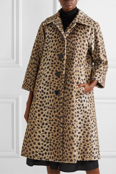Marc Jacobs animal-print alpaca and cotton-blend coat in tan