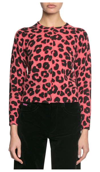 Marc Jacobs The Printed Cardigan in pink