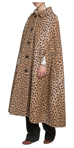 Marc Jacobs Animal-Print Cape Coat in neutral pattern