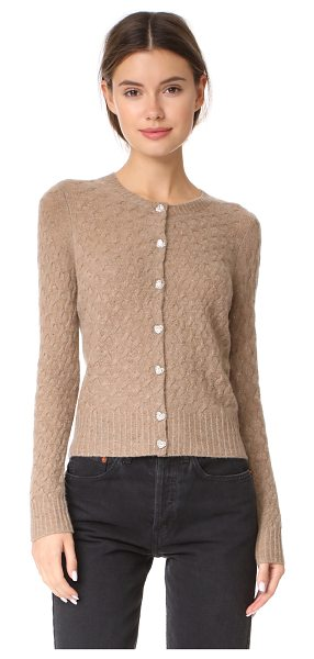Marc Jacobs cashmere crew neck cardigan in beige - This lightweight Marc Jacobs cardigan is detailed with a...
