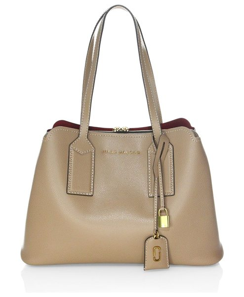 Marc Jacobs chain snapshot crossbody with motif webbing strap in chocolate