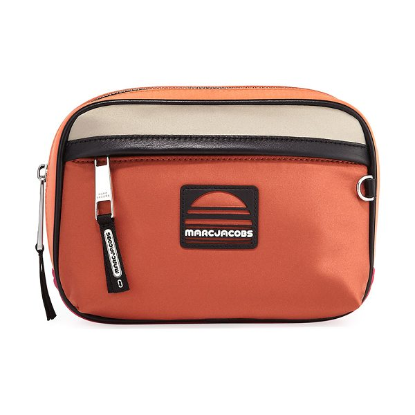 Marc Jacobs Colorblock Fabric Belt Bag in peach - Marc Jacobs colorblock polyester belt bag. Adjustable...