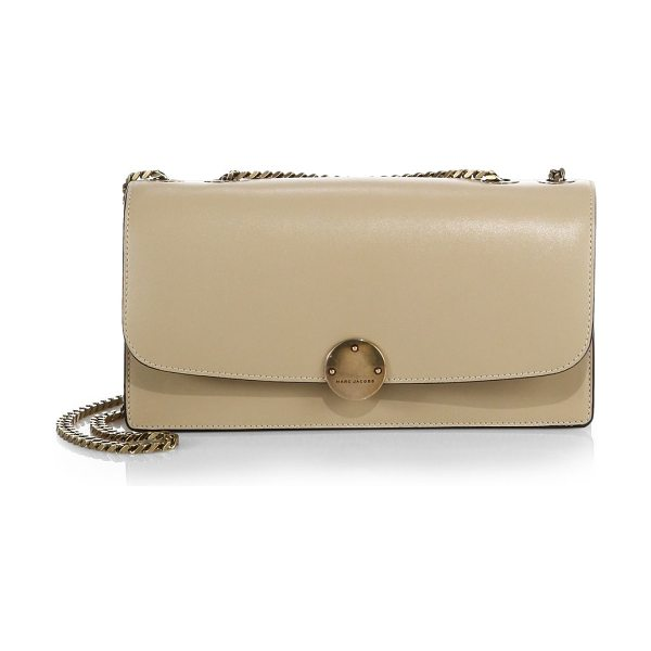 Marc Jacobs Double trouble shoulder bag in sand - This smooth leather shoulder bag is designed with...