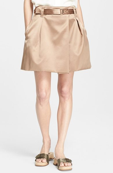 Marc Jacobs duchesse satin skirt in taupe - Lovely duchesse satin elevates a military-inspired skirt...