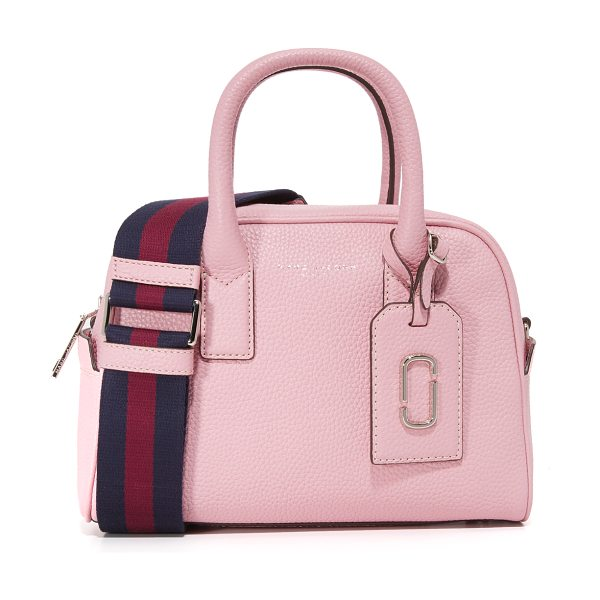 MARC JACOBS gotham small bauletto satchel in pink fleur - A small, boxy Marc Jacobs satchel in pebbled leather....