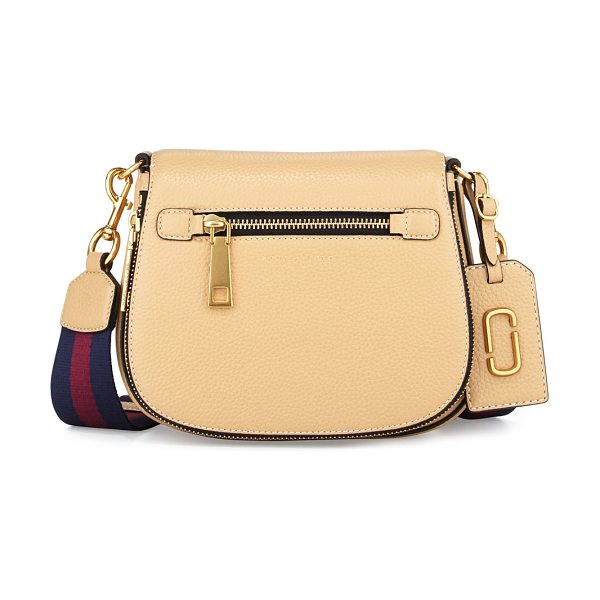 MARC JACOBS Gotham Small Nomad Saddle Bag - Marc Jacobs grained leather saddle bag. Removable,...