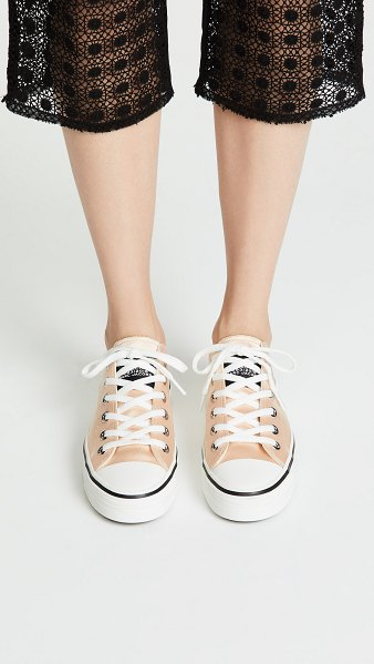 Marc Jacobs grunge low top sneakers in peach