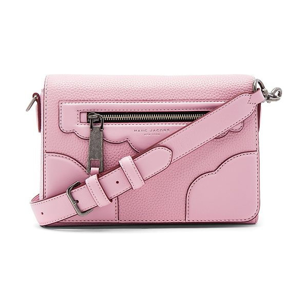 MARC JACOBS Haze Small Shoulder Bag in pink - Leather exterior with nylon fabric lining. Flap top with...