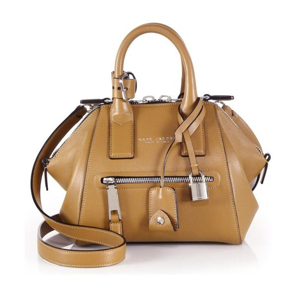 Marc Jacobs Incognito mini smooth leather top-handle bag in toffee - taly
