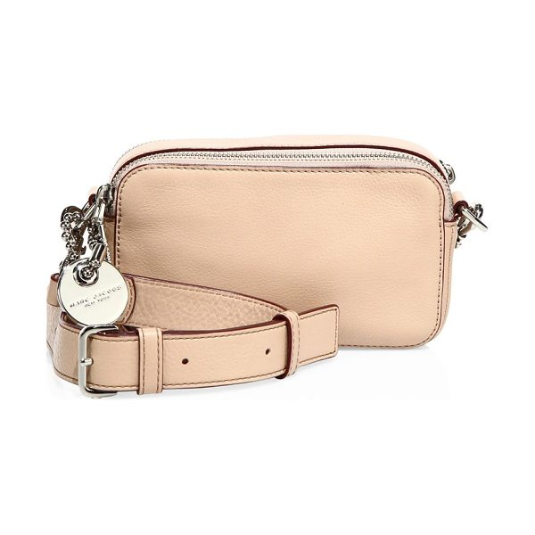 MARC JACOBS Recruit leather camera bag in antiquerose - Luxe leather camera bag with military-inspired details....