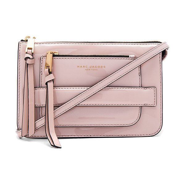 Marc Jacobs Madison Patent Crossbody Bag in blush - Patent leather exterior with nylon fabric lining. Zip...