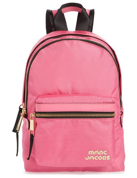 Marc Jacobs medium trek nylon backpack in vivid pink - Gleaming hardware and a vintage-inspired sporty logo add...