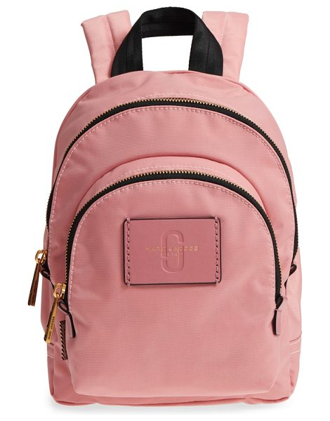 MARC JACOBS mini double pack nylon backpack in rose - Perfect for everything from commuting to weekend trips,...