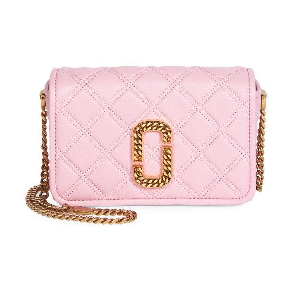 Marc Jacobs the status naomi leather crossbody bag in powder pink