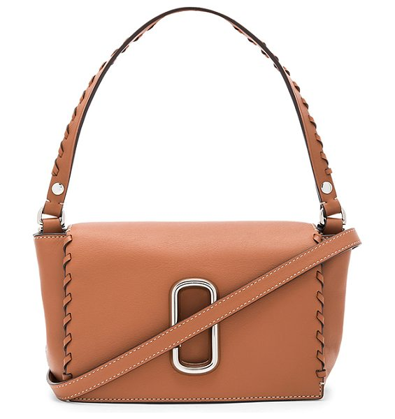 Marc Jacobs Noho Crossbody Bag in caramel cafe - Leather exterior with nylon fabric lining. Flap top with...