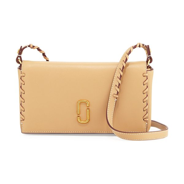 Marc Jacobs Noho Whipstitch Leather Crossbody Bag in sand - Marc Jacobs smooth leather crossbody bag with whipstitch...