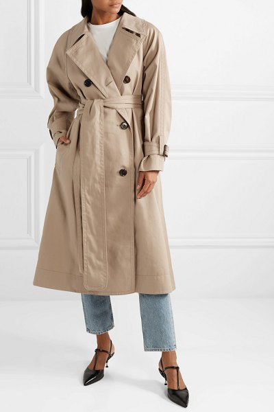 Marc Jacobs oversized cotton-twill trench coat in beige