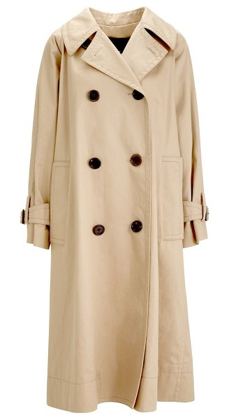 Marc Jacobs oversized trench coat in beige - A timeless wardrobe staple, this trench coat flaunts...