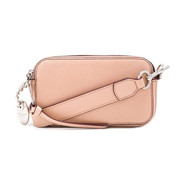 Marc Jacobs Recruit Camera Bag in blush - Leather exterior with nylon fabric lining. Double top...