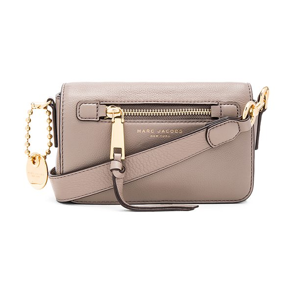 Marc Jacobs Recruit Crossbody in mink - Leather exterior with nylon fabric lining. Flap top with...
