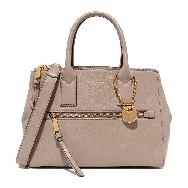 MARC JACOBS Recruit east / west tote in mink - A structured Marc Jacobs tote in pebbled leather with...