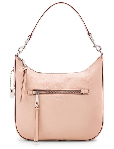 MARC JACOBS Recruit Hobo Shoulder Bag - Leather exterior with nylon fabric lining. Zip top...