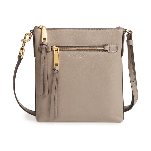 MARC JACOBS recruit north/south leather crossbody bag in mink - Clean lines accentuate the classic silhouette of a...