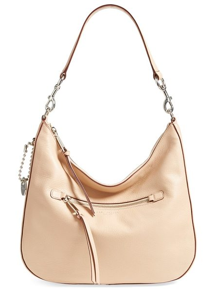 MARC JACOBS recruit leather hobo in nude - Contrast-painted edges accentuate the lightly structured...
