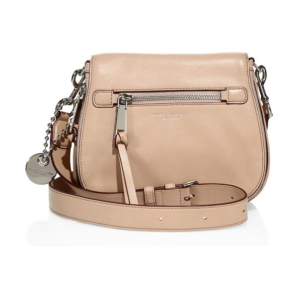 Marc Jacobs recruit small leather saddle crossbody bag in nude - Polished leather saddle bag with rich hardware accents....