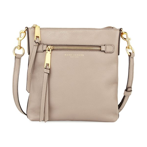 Marc Jacobs Recruit North-South Leather Crossbody Bag in mink - Marc Jacobs pebbled leather crossbody bag. Available in...
