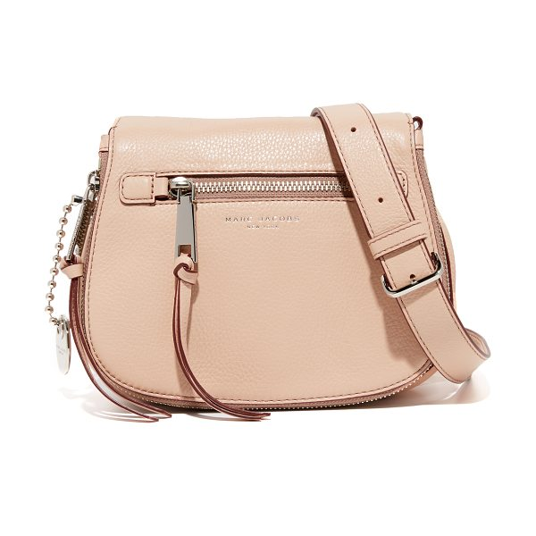 Marc Jacobs recruit small saddle bag in nude - A scaled down Marc Jacobs saddle bag in pebbled leather....
