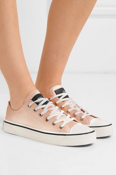 Marc Jacobs satin sneakers in peach