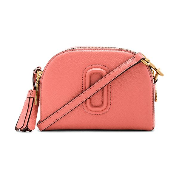 """Marc Jacobs Shutter Bag in coral - """"Leather exterior with nylon fabric lining. Double zip..."""