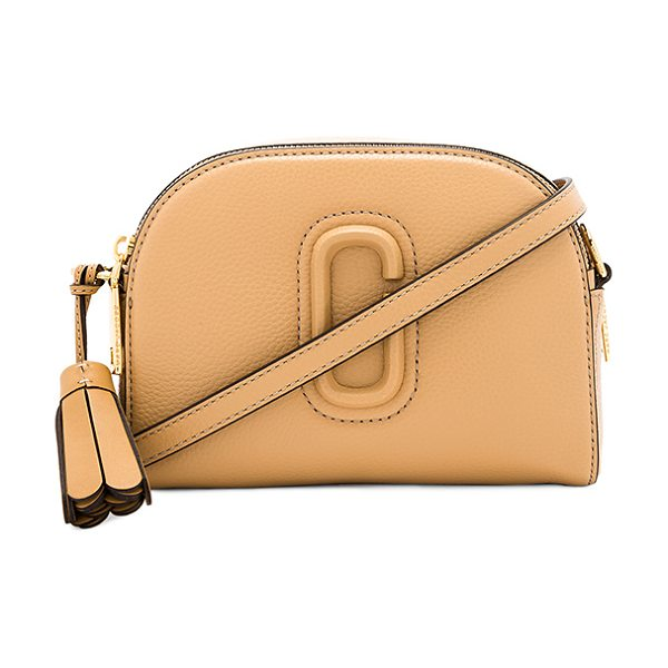 "MARC JACOBS Shutter Camera Bag in beige - ""Leather exterior with nylon fabric lining. Double zip..."