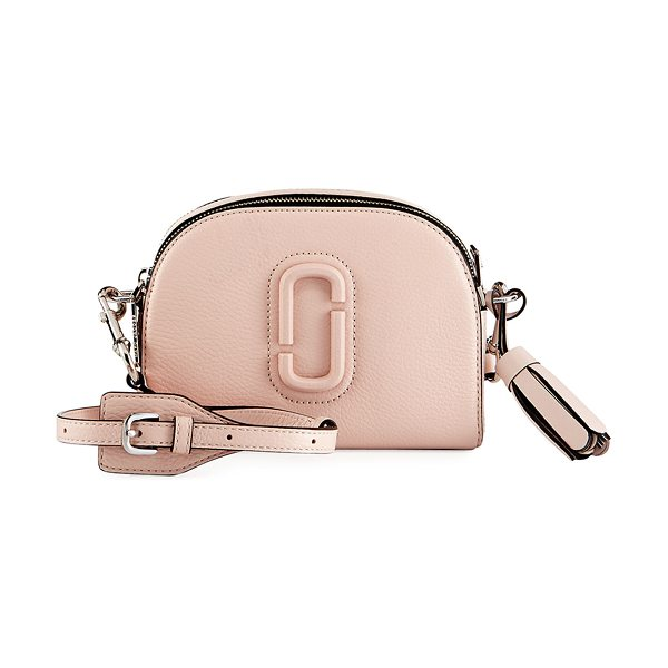 Marc Jacobs Shutter Small Leather Camera Bag in light pink - Marc Jacobs pebbled calf leather camera bag. Golden...