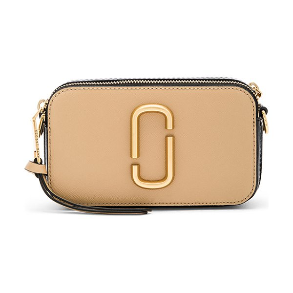 MARC JACOBS Snapshot Bag - Leather exterior with nylon fabric lining. Double zip...