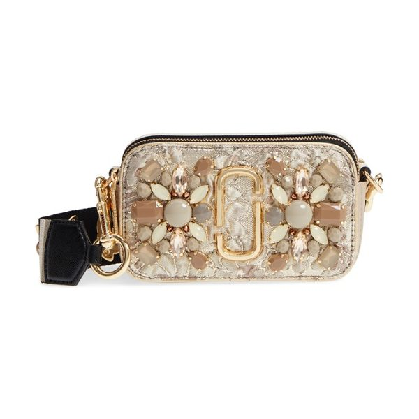 Marc Jacobs snapshot brocade crossbody bag in beige multi - This boxy crossbody is updated by a shimmery brocade...