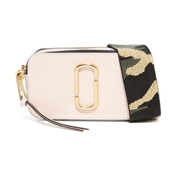 Marc Jacobs snapshot camera bag in pale pink multi - A boxy Marc Jacobs bag in colorblocked saffiano leather....