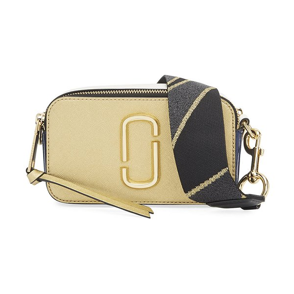 Marc Jacobs Snapshot Colorblock Camera Bag in gold