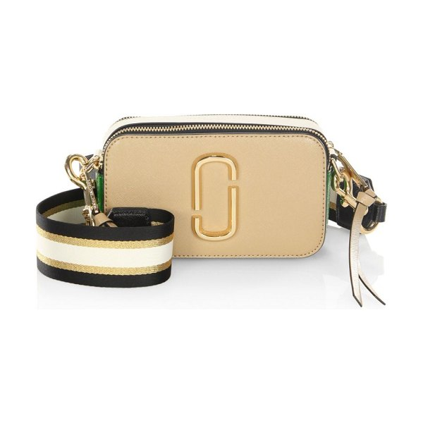 Marc Jacobs snapshot coated leather camera bag in sandcastle