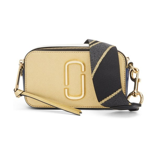 Marc Jacobs snapshot coated leather camera bag in gold