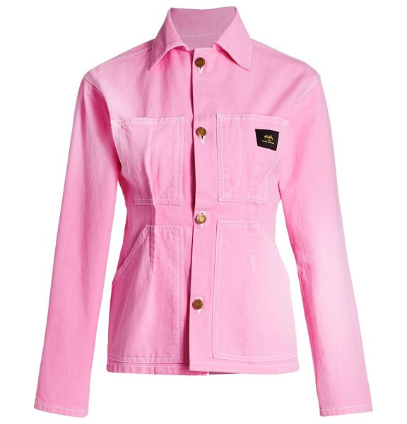 Marc Jacobs s.ray x tailored workwear cotton jacket in pink