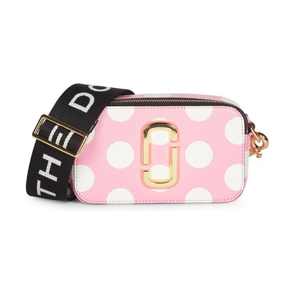 Marc Jacobs the snapshot dot coated leather camera bag in pink
