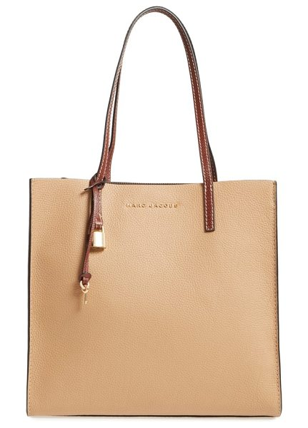 MARC JACOBS the grind colorblock leather tote - A deep, roomy tote topped with slim, over-the-shoulder...