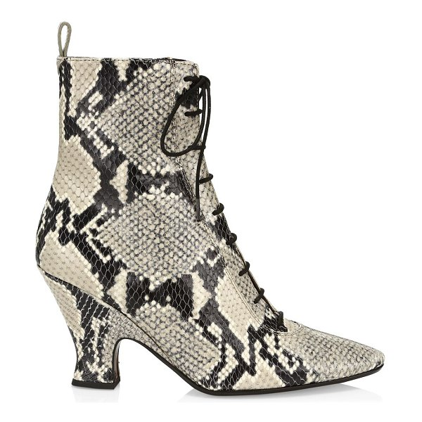Marc Jacobs the victoria snakeskin-embossed leather ankle boots in natural