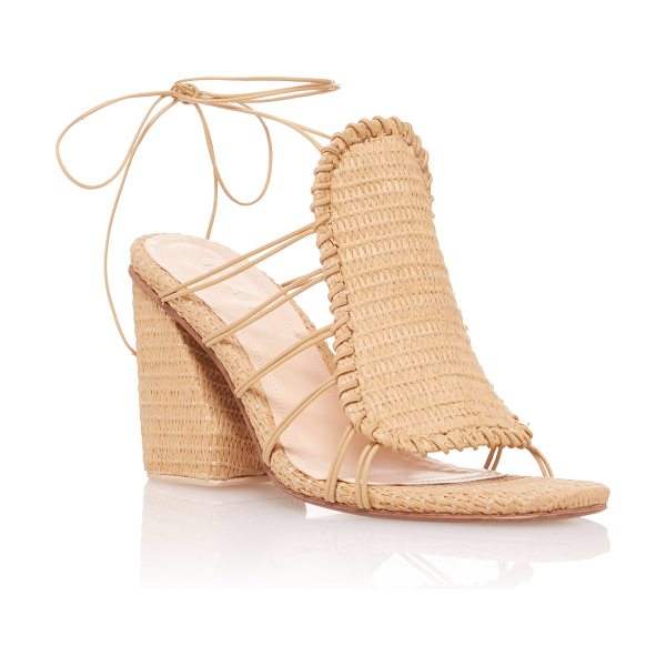 MARCELA B. Asymmetric Heeled Sandal in neutral - This *Marcela B* sandal is rendered in nylon and...