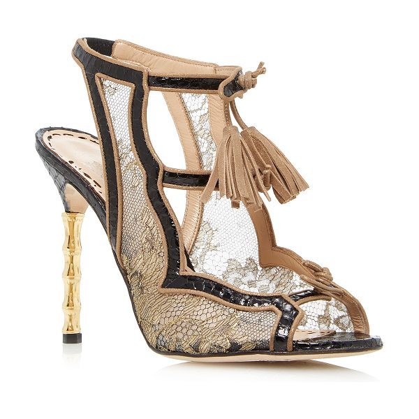 Marchesa Addilyn Sandal in gold - This *Marchesa* Addilyn sandal is rendered in lace and...